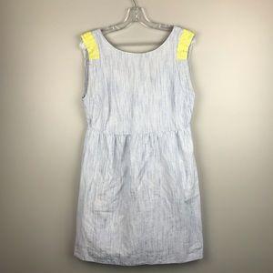 J CREW Blue & Yellow Dress sz 10